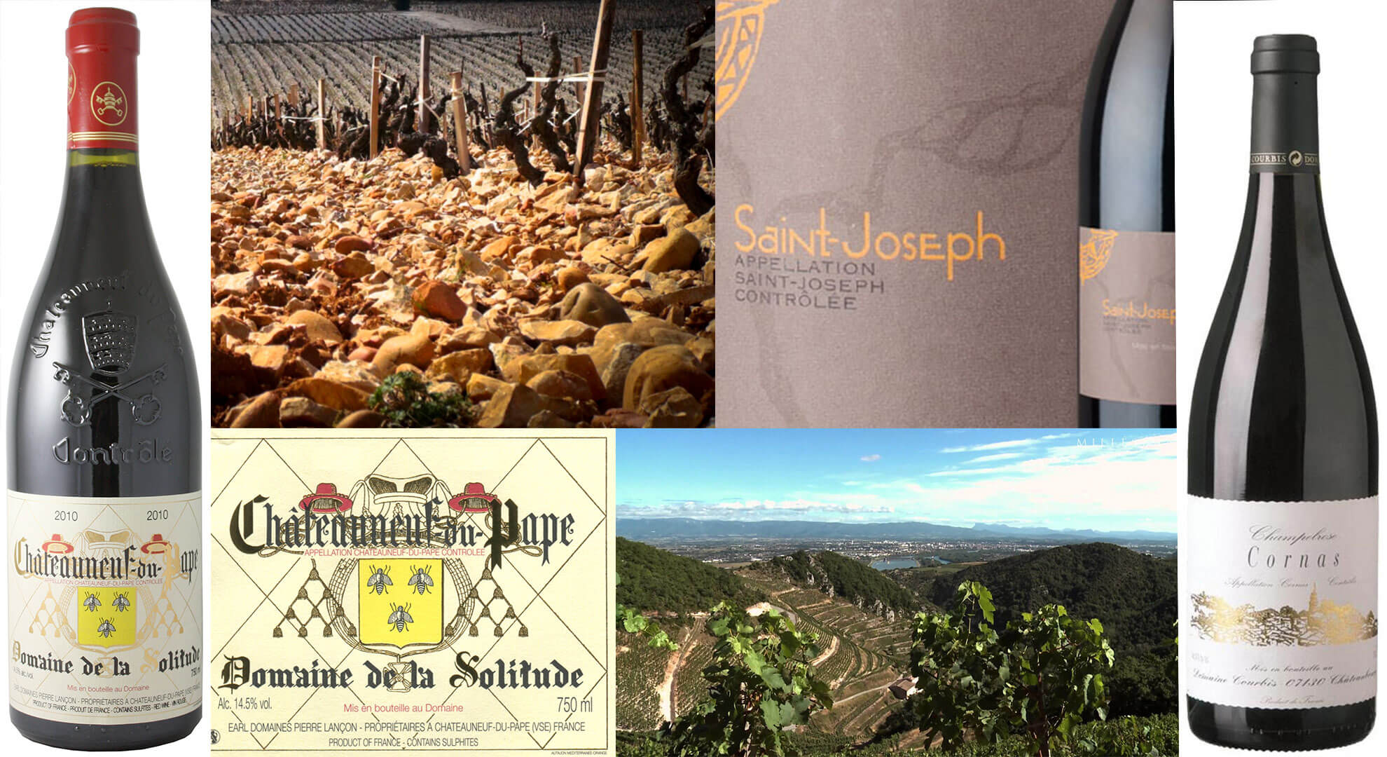 Rhône Winemaker Dinner with Two Superstar Wineries : Domaine Solitude and Domaine Courbis