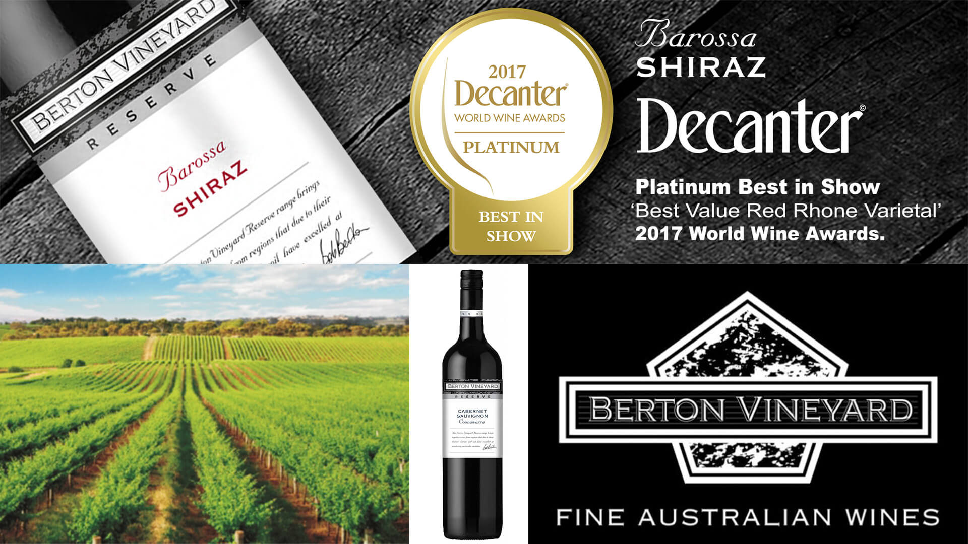 Winemaker Dinner with Bob Berton of Berton Vineyards of Eden Valley